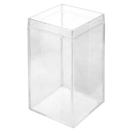 Tall Square Clear Box Plastic Box Birthday Party Container