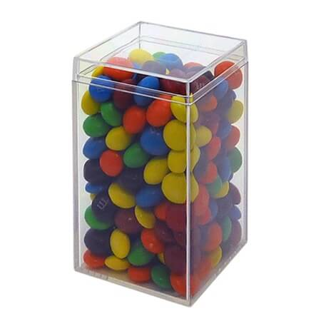 Square Tall Clear Box Candy Favor Container Plastic Bin
