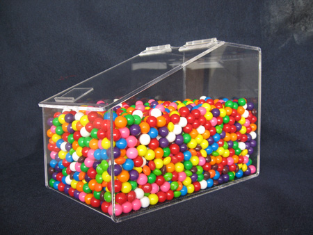 Acrylic Hinged Lid Bins Candy Containers Acrylic Display