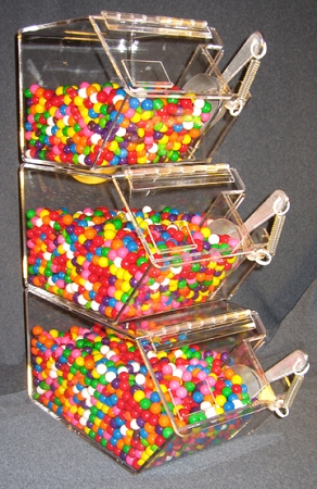 3 Tier Stackable Bins Scoop Holder Stacking Candy Bin