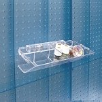 4 Compartment Tray - Pegboard / Slatwall - 2ct