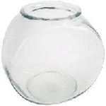 64 oz Glass Drum Style Fish Bowls - 12ct