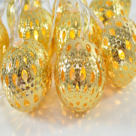 Gold Moroccan String Lights Visual Lighting Home LEDs
