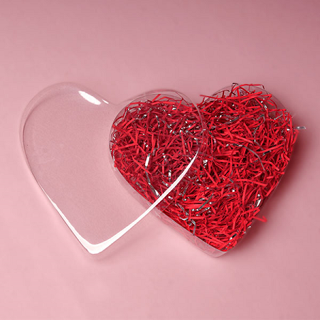 Heart Shaped Plastic Boxes Heart Candy Container Favor Box