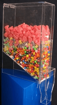 Acrylic Candy Bins Toppings Dispensers Gravity Style Bins