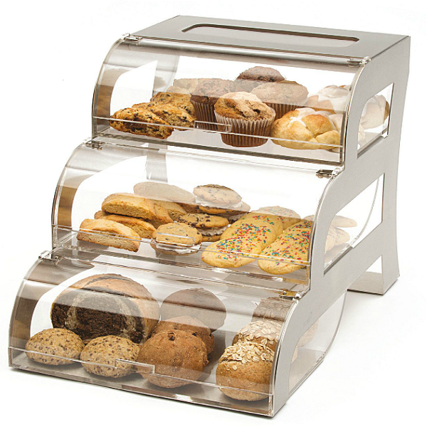 Large Tiered Bakery Display Pastry Case Steel Frame