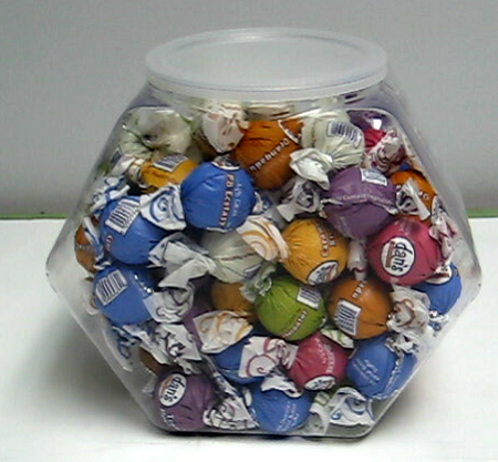 Hexagon Candy Containers Unique Bins Plastic Candy Jars