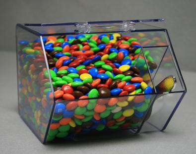 Jumbo Mini Bin With Scoop Acrylic Bin Candy Dispenser