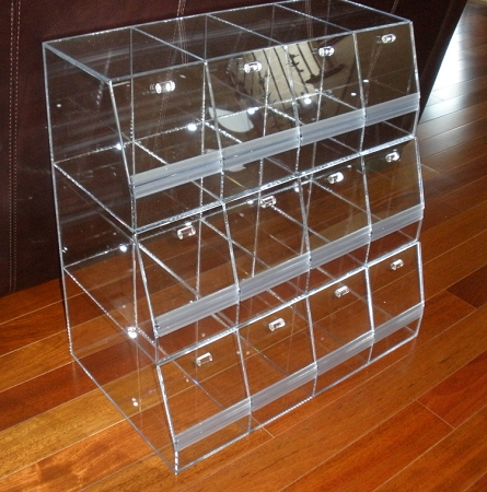 Acrylic Multi Bin System Acrylic Container Candy Display