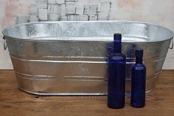 Oval Galvanized Tub 16 Gallon Wedding Event Supplies