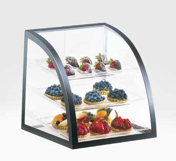 Countertop Bakery Display Cases : Home > Bakery Displays > Black Iron Bakery Display Case - 3 Shelves