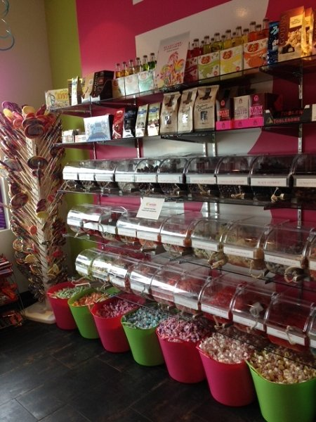 Acrylic Bins In Candy Store