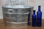 Round Galvanized Tub - 11 Gallon