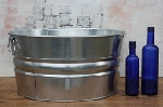 Round Galvanized Tub - 15 Gallon