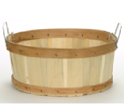 Shallow Half Bushel Flat Bottom Baskets Rustic Wooden