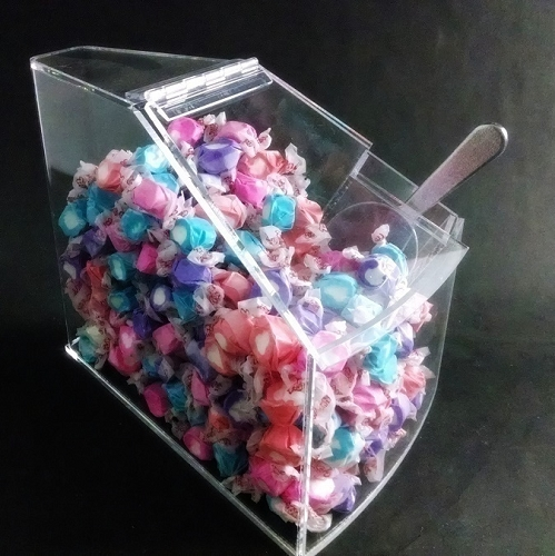 Small Radius Candy Bin Circle Display Acrylic Containers