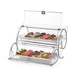 XL Bakery Case With Metal Accents - 2 Tiered