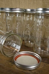 24 oz Wide Mouth Mason Jars w/Lids - 9ct