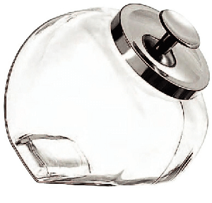 1 Gallon Glass Penny Candy Jars - 4ct