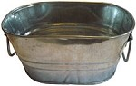 Metal Oval  Tubs - Pre-Galvanized - 4 ct.