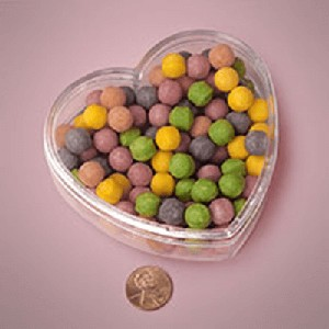 Clear Plastic Heart Containers - 3.75in - 36ct