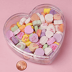 Clear Plastic Heart Containers  - 4.5in -36ct