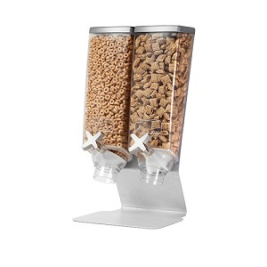 Double Dispenser With Silver Metal Stand