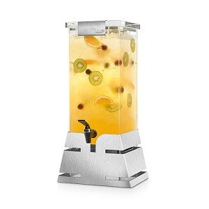 Locking Beverage Dispenser - Steel Pyramid Base