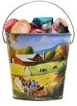 Decorative Pails - 2 Quart - Choose Pattern