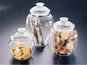 1 Gallon Large Acrylic Candy Jars - 12ct