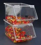 Large Mini Stacking Bins - Case of 4