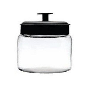 48 oz Mini Montana Jars /Black Metal Lids - 4ct