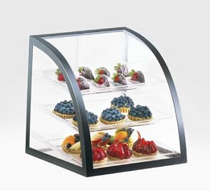 Black Iron Bakery Display Case - 3 Shelves
