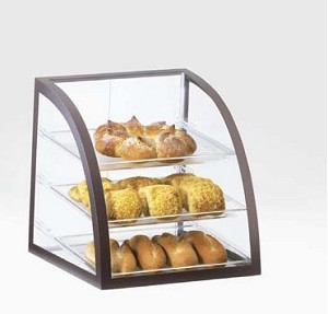 Brown Iron Bakery Display Case - 3 Shelves