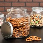 1 Gallon Barrel Jars w/ Aluminum Lids - 4ct