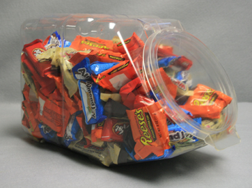 Large Candy Jar Plastic Containers Stackable Candy Bin