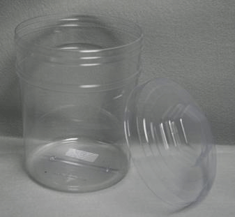 166 Oz Round Tubs With Lids Candy Jars Containers