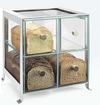 4 Compartment Bread Case - Silver Frame