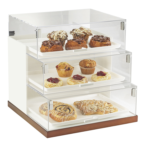 3 Tier Bread Case Display Bakery Display Stylish Case