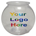 1 Gallon Logo Round Plastic Fish Bowl - 108ct