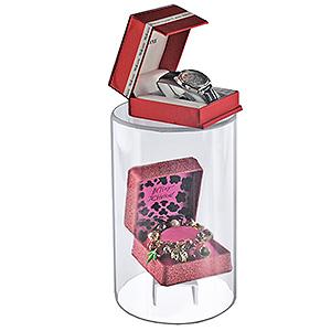 ''Acrylic Cylinder Riser - 6''''W x 10''''H''