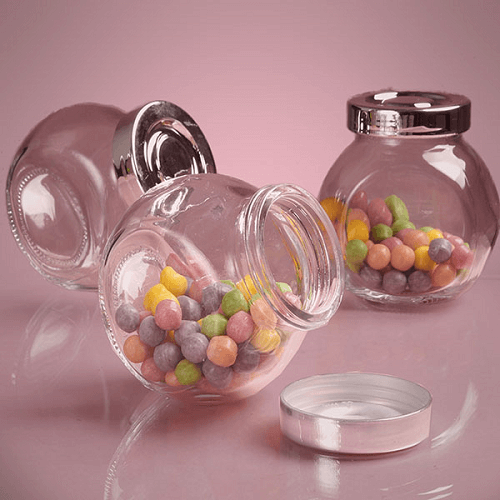 6 Oz Glass Jars W Lids Party Favor Containers Candy Buffet