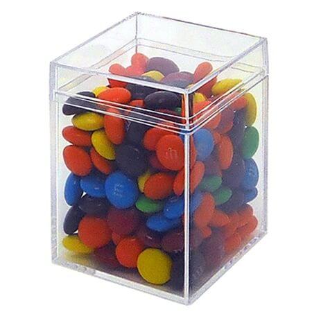 6 Ounce Medium Square Box Clear Candy Bin Gift Favor Box