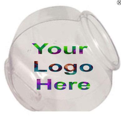 1 Gallon Logo Cookie Jar Fish Bowls Advertising Displays