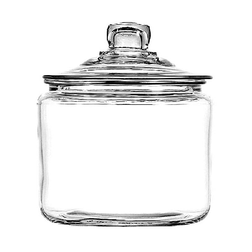 New 96 Heritage Hill Jars With Lid 4 Count | Round Glass Candy Jar XB24