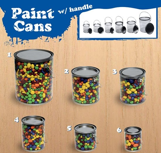 Paint Can Candy Containers Party Favors Candy Buckets
