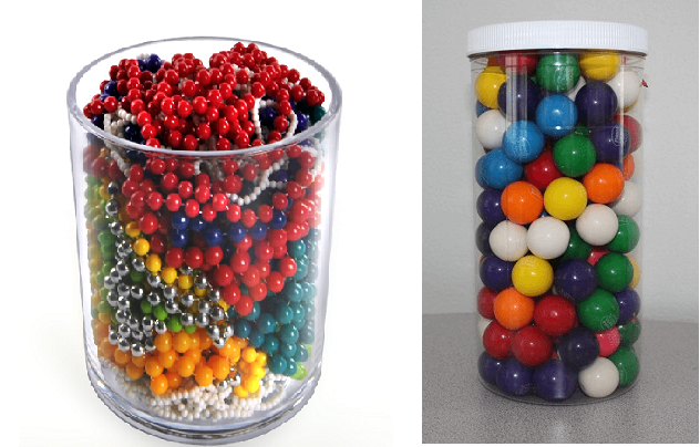 Round Plastic Candy Containers