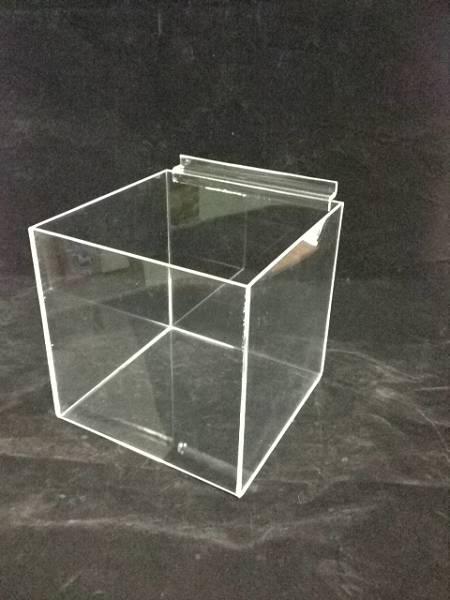 6 In Acrylic Slatwall Cube Acrylic Slatwalls Bins Cubes
