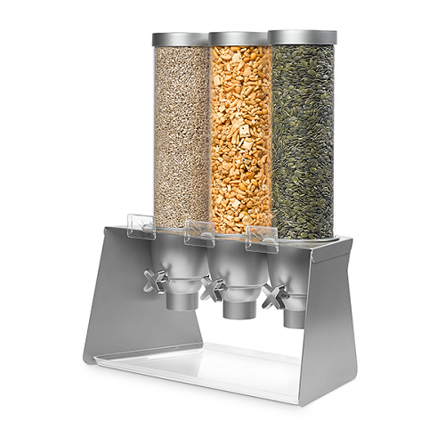 Triple Dispenser With Stand Stylish Server Modern Appeal