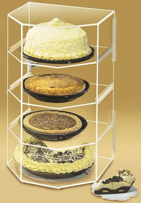 Acrylic 4 Shelf Pie Case Acrylic Display Bakery Cabinet